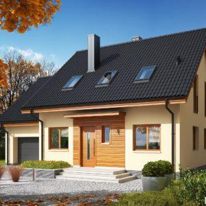 Projekty domów tanich w budowie111