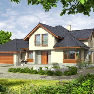 1001-Projekty domów z garażem